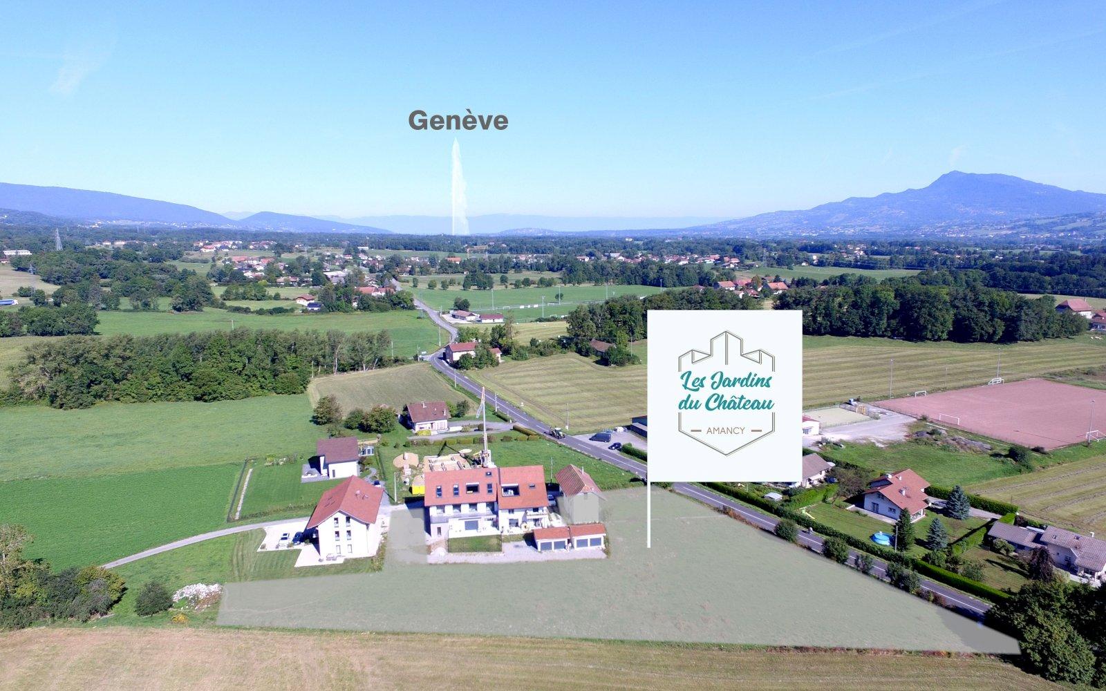 Emplacement du programme Les Jardins du Château. A deux pas de Genève...