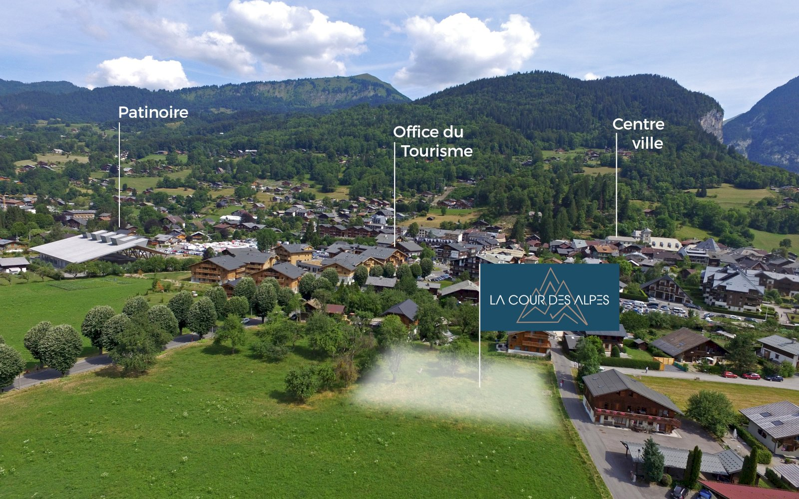 Emplacement des chalets La Cour des Alpes